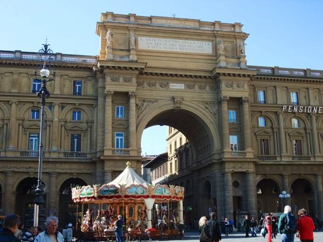 Piazza della Repubblica was built on the site of the ancient Roman forum.