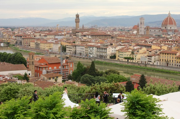 Piazzale Michelangelo, a popular place for wedding photos.