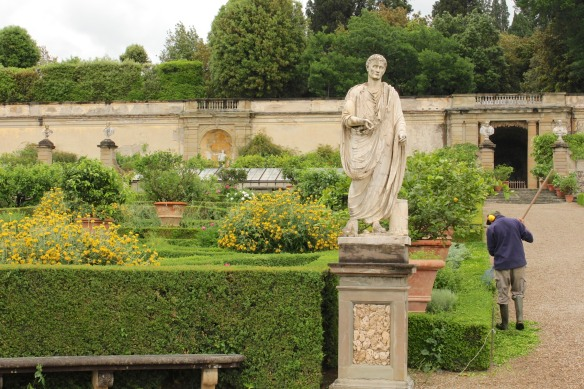 When I arrived at Villa Castello, it was just me and the gardeners.