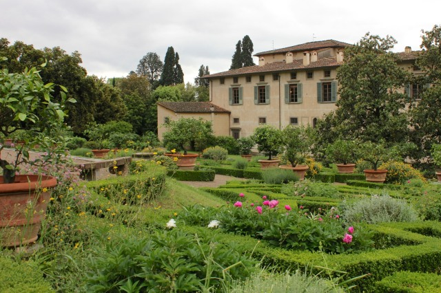 In the parterre of Villa Castello, possibly the first garden deliberately conceived as a propaganda tool.