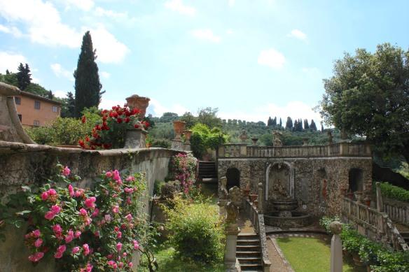 """The sunken """"Secret Garden"""".  Like the garden """"rooms"""" of the Renaissance gardens."""