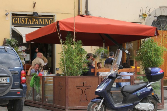 Entering Piazza Santo Spirito is like entering a different city.