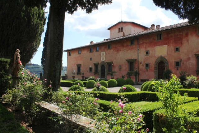 Villa Vignamaggio.  A renowned winery in the Conca d'Oro (Golden Triangle) of the Chianti Region.