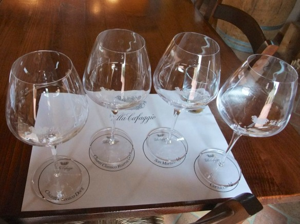 ...and the glasses all set up for the tasting.