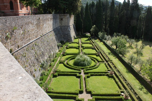And below the ramparts a classic Renaissance parterre.