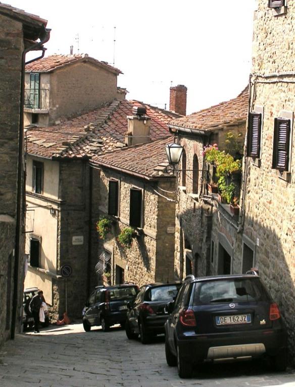 A street in Cortona.