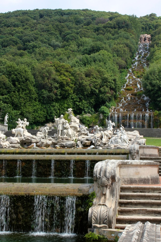 From the waterfall at Reggia di Caserta flows all the water for a three kilometre water feature.