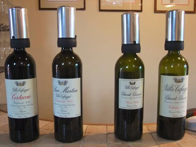 The wines...