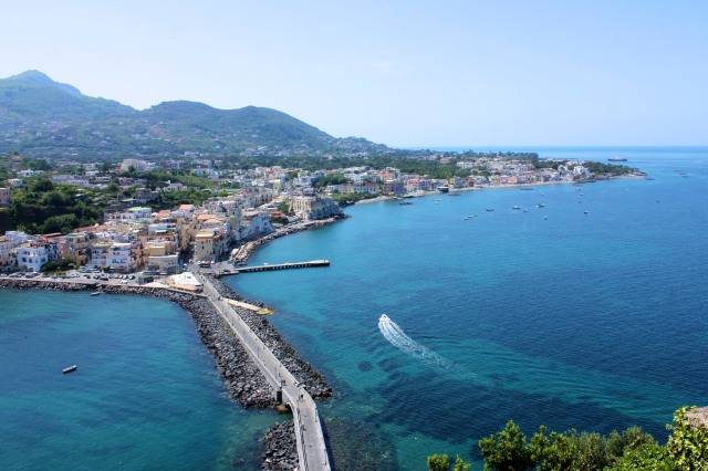 Ischia Porto viewed from Castello Aragonese.