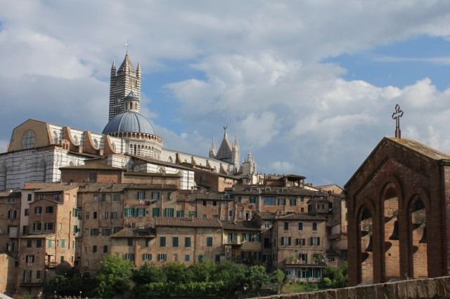 First glimpse of Siena's centro storico.
