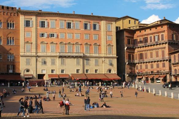Piazza del Campo. siena's user-friendly main piazza.