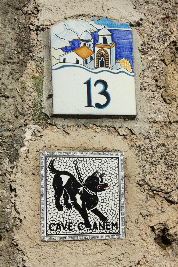 "The 'street' numbers picked up the iconic chapel and the dog from Pompeii was a popular ""Keep Out' motif."