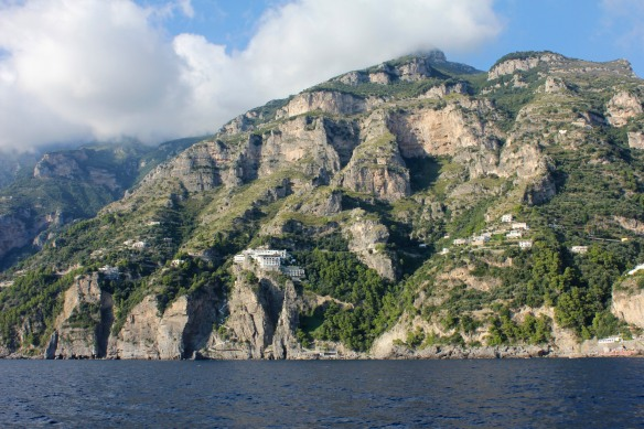 Heading east along the Amalfi Coast.