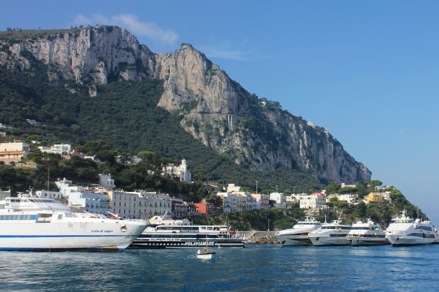 ..but unlike Sorrento's harbour, this one really is grande, just the place for enormous ferries to dock and unload the hordes of tourists that invade the island every day.