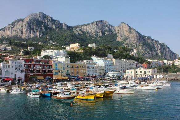 Unlike the Marina Grande in Sorrento, the one in Capri really is grande.
