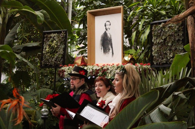 If you're lucky, carollers will be strolling through the greenhouses during your visit.