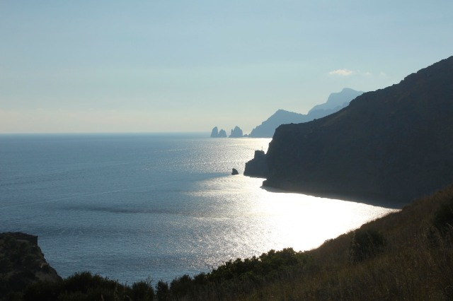Along the path to  the Faraglioni and eastern tip of Capri.