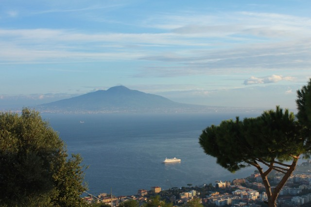 Early morning view from my balcony at Villa Fiorita.