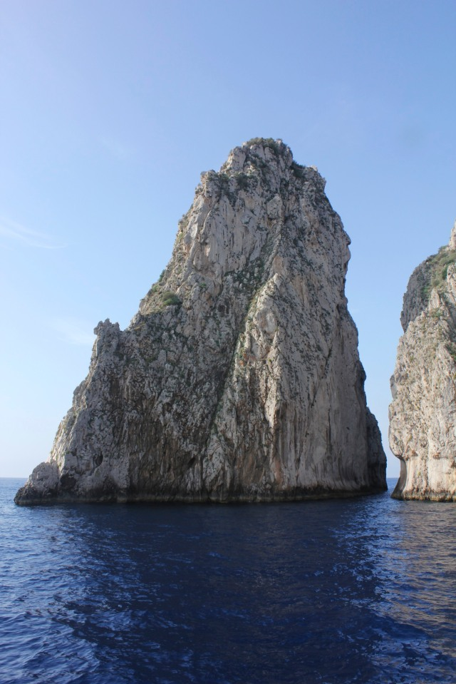 The easter Faraglione, one of two rocks which over time have become the symbol of Capri.