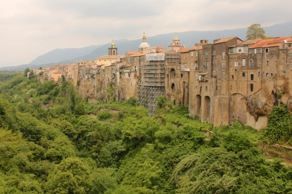 This view of Sant'Agata dei Goti, the village I stayed in while visiting the Reggia, gives a sense of what Caserta would have been like at the time.