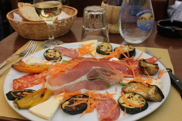Antipasto misto, my old stand-by for lunch.