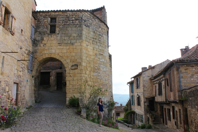 Cordes-sur-ciel, a medieval hilltop village in the Dordogne.
