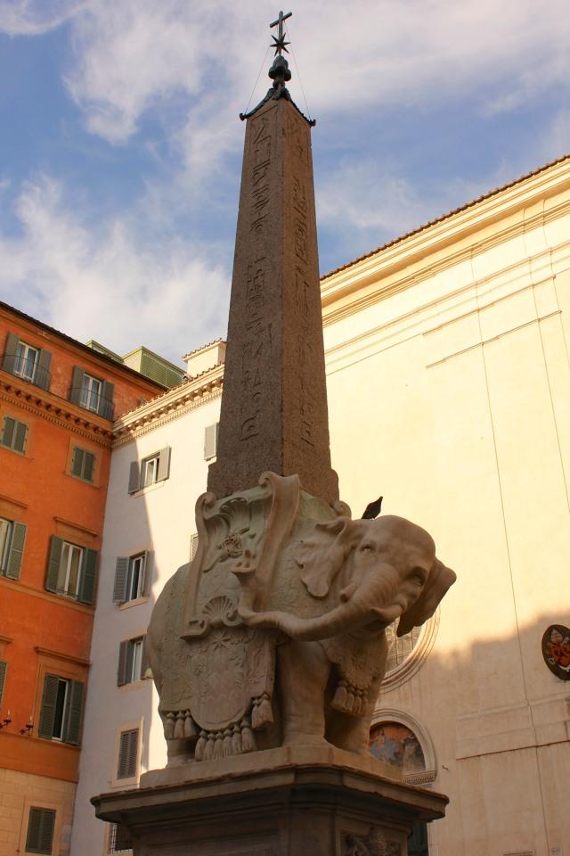 Bernini's elephant. Piazza della Minerva, Rome.