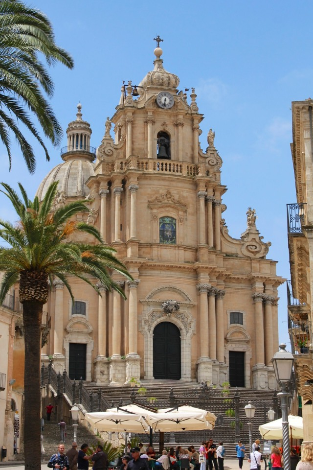 It had been a hot day in August when I first saw Ragusa's cathedral.